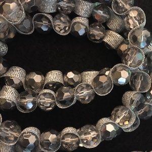 Ann Taylor Loft Silver Crystal Necklace